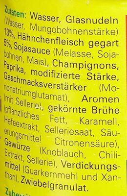 Bihun Suppe - Zutaten - de