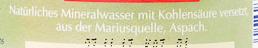 Marius Mineral-Quelle medium - Ingredients