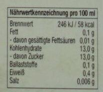 Bayrische Johannisbeere - Informations nutritionnelles - de