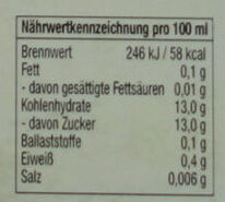 Bayrische Johannisbeere - Nutrition facts - de