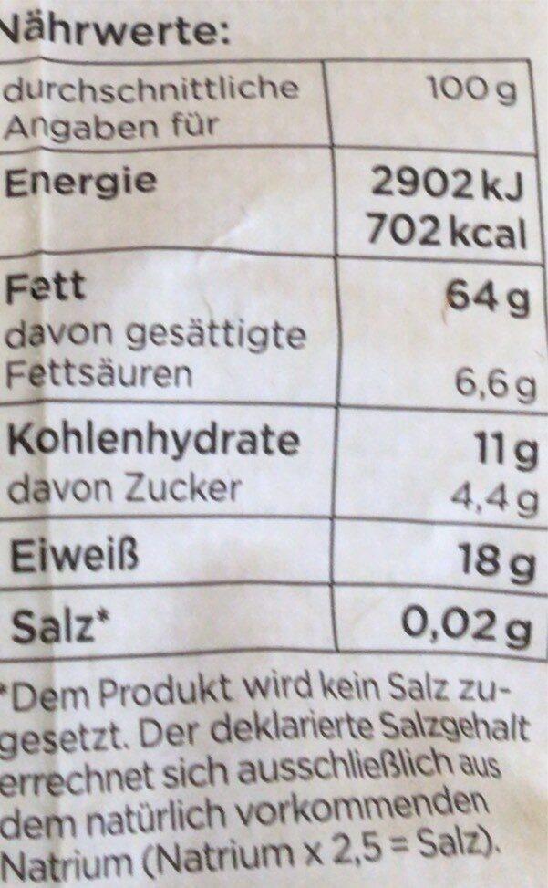 Pinienkerne - Nutrition facts - en