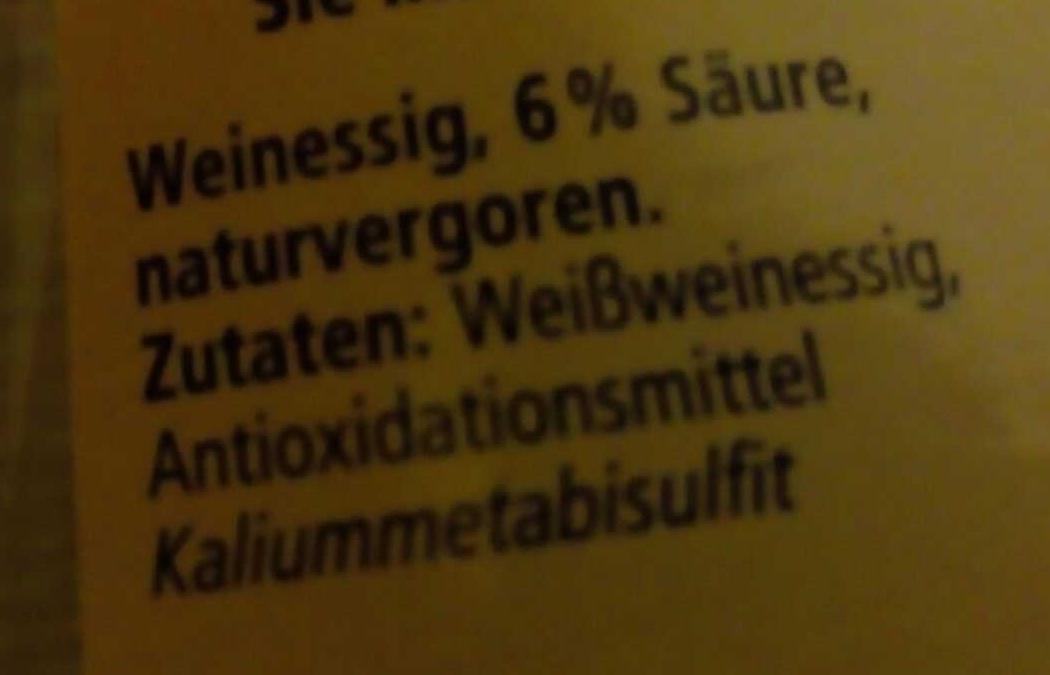 Klassischer Weißweinessig - Ingrediënten