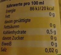 Klassischer Weißweinessig - Voedigswaarden