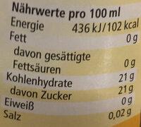 Condimento Balsamico Bianco mild-süß - Nutrition facts - de