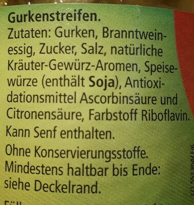 Wurstsalat Gurken - Ingrédients - de