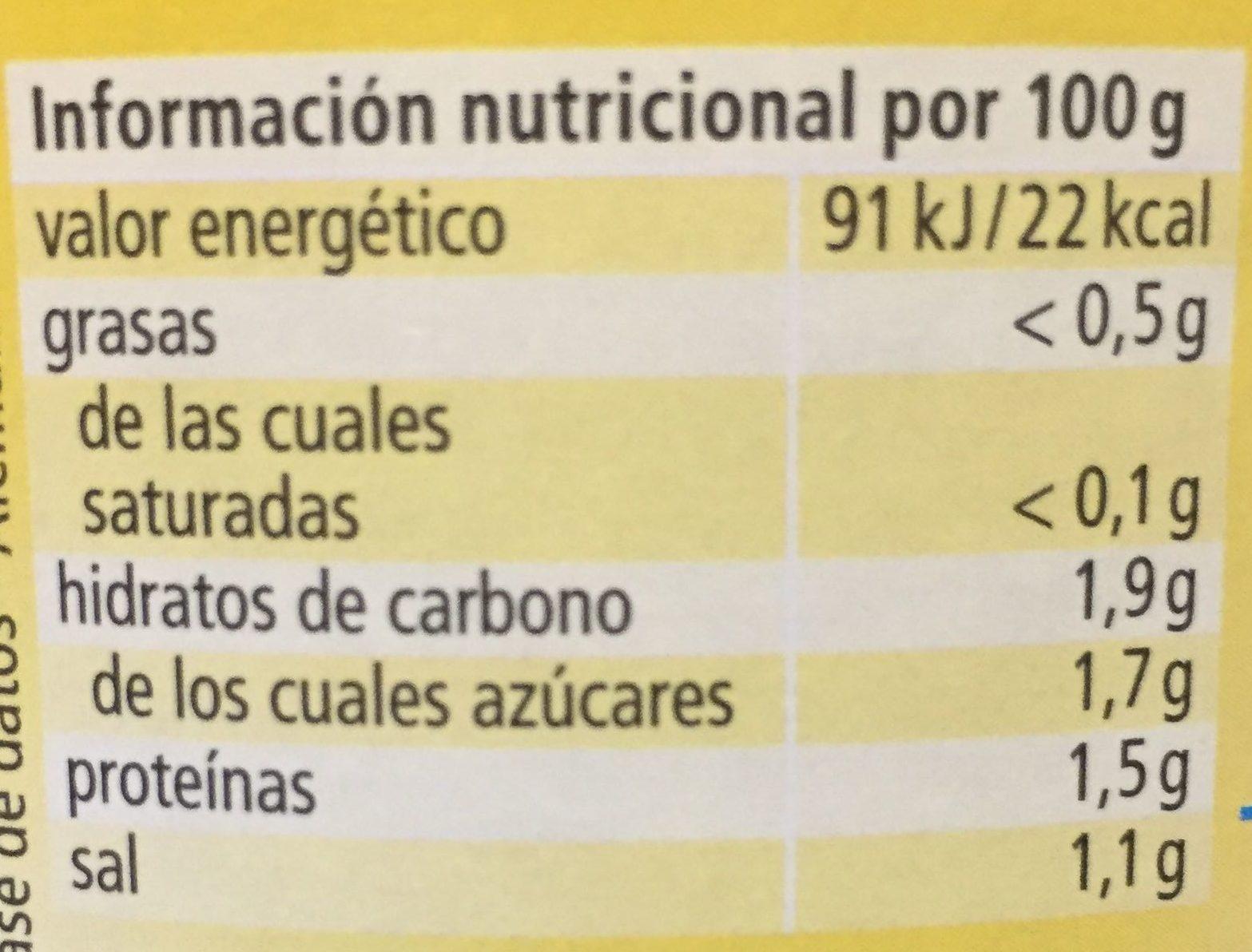 Sauerkraut Bavarian Style - Informació nutricional - es