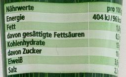 Paprika Mark würzig - Nutrition facts