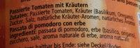 Oro Di Parma Tomaten Passiert Mit Kräutern Dose 400 G - Zutaten - de