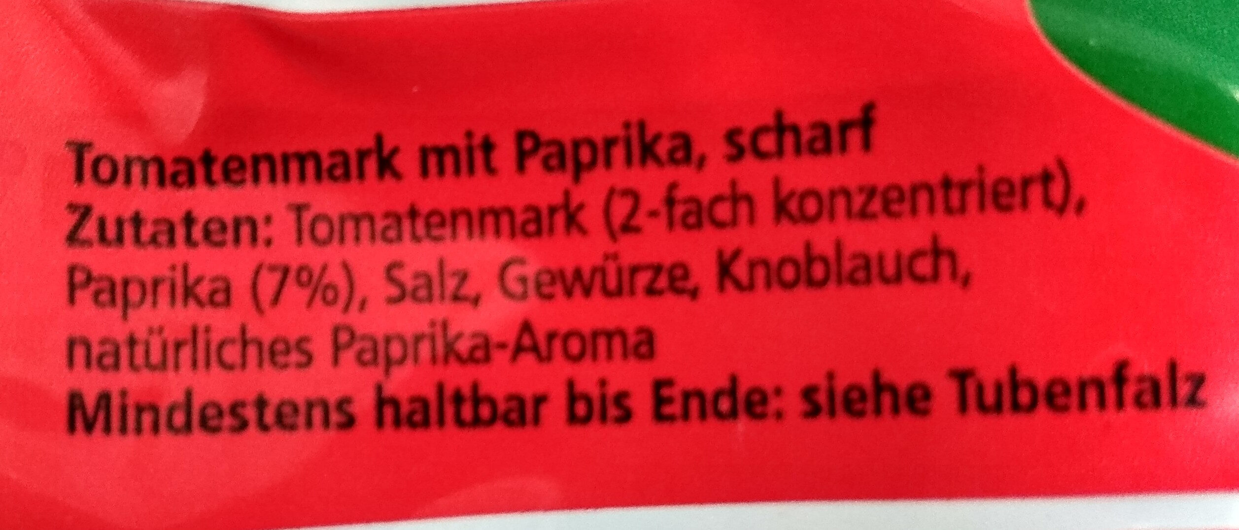 Tomatenmark scharf - Ingrédients - de