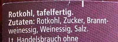 Mildessa Rotkohl - Ingredients