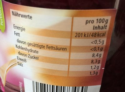 Mildessa Rotkohl - Nutrition facts - de