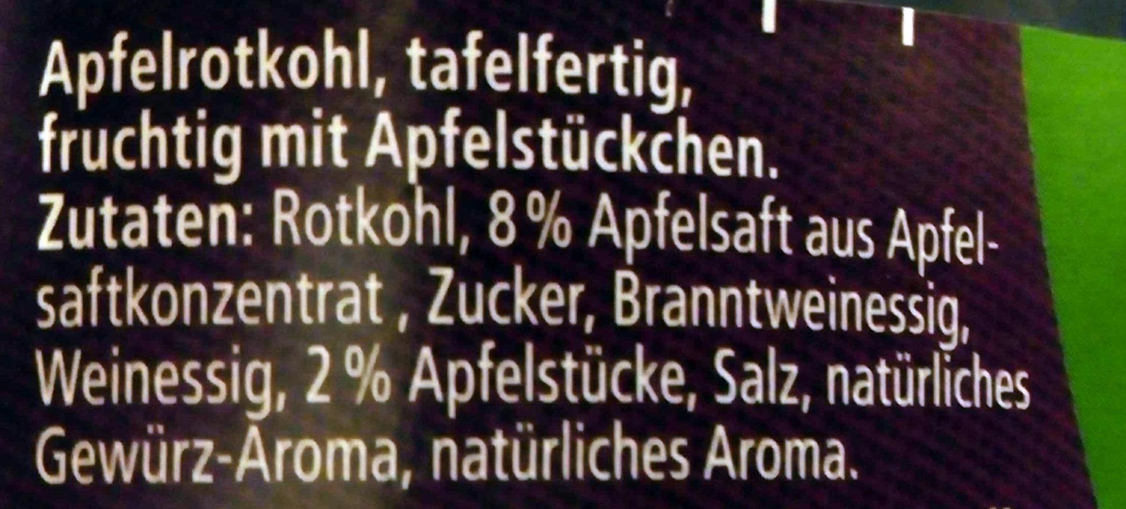 Apfelrotkohl - Ingrediënten