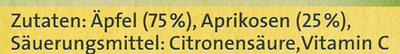 Obstpause Apfel & Aprikose - Ingrédients