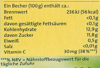 Obstpause Apfel & Aprikose - Informations nutritionnelles