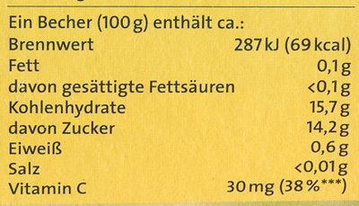 Obstpause Apfel & Banane - Nutrition facts