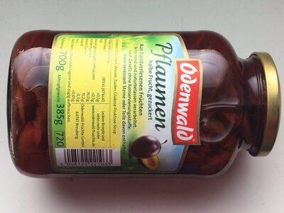 Pflaumen (halbe Frucht) - Informations nutritionnelles - de