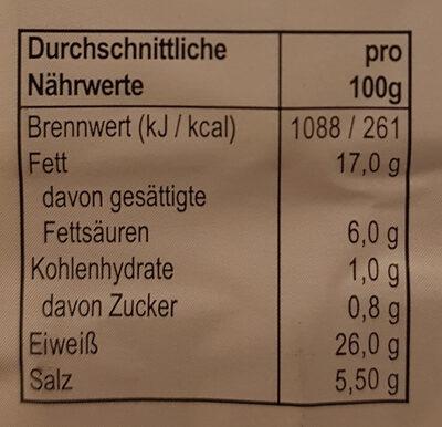 Schwarzwälder Schinken - Nutrition facts