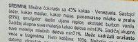Venezuela 43% Kakao - Ingredients - sr