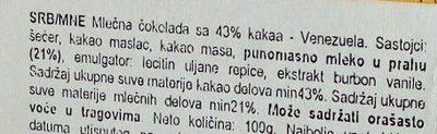 Venezuela 43% Kakao - Sastojci