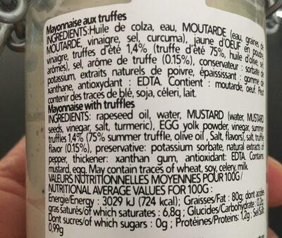 Mayonnaise aux truffes - Ingredients - en