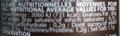 Mayonnaise aux truffes - Nutrition facts - en