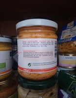 Tartinade carotte gingembre - Informations nutritionnelles