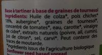 Tartin'apéro orientale - Ingredients - fr