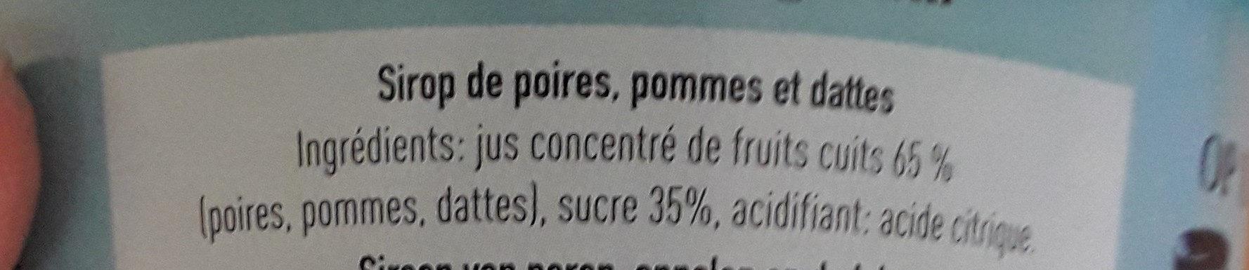Du vrai sirop de Liège - 成分 - fr