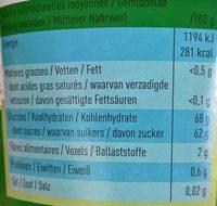 Du vrai sirop de Liège - Voedingswaarden - nl