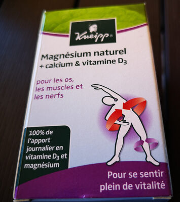 Magnésium naturel +calcium & vitamine D3 - Ingredients