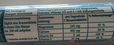 Magnesium+Calcium+D3 - Nutrition facts