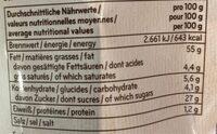 Seeberger GMBH Seeberger Salzmandeln Merken - Informations nutritionnelles - fr