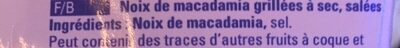 Macadamia Nusskerne - Ingrédients - fr
