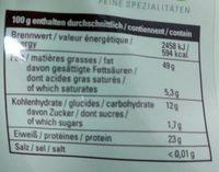 Sonnenblumenkerne - Nutrition facts - de