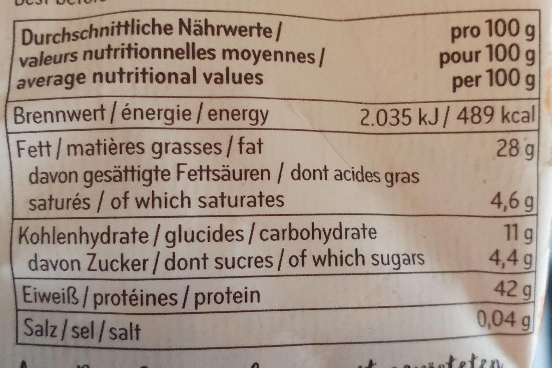 Graines de soja grillées - Informations nutritionnelles - de