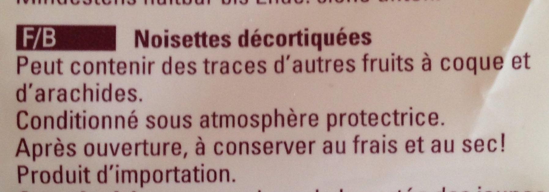 Haselnusskerne - Ingrédients - fr