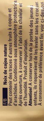 Cashewkerne - Ingrédients