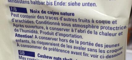 Cashewkerne - Ingrédients - fr