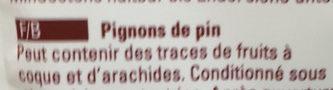 Pignons de pins - Ingrédients