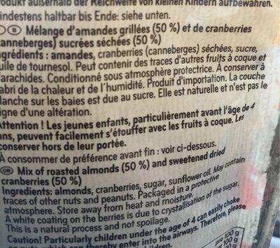 Mandel cranberry mix - Ingrédients - fr