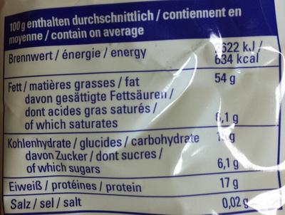 Mélange de noix - Voedingswaarden - fr