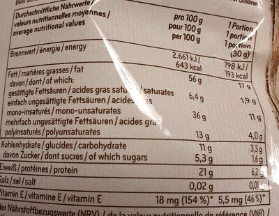 Mélange de noix - Informations nutritionnelles - fr