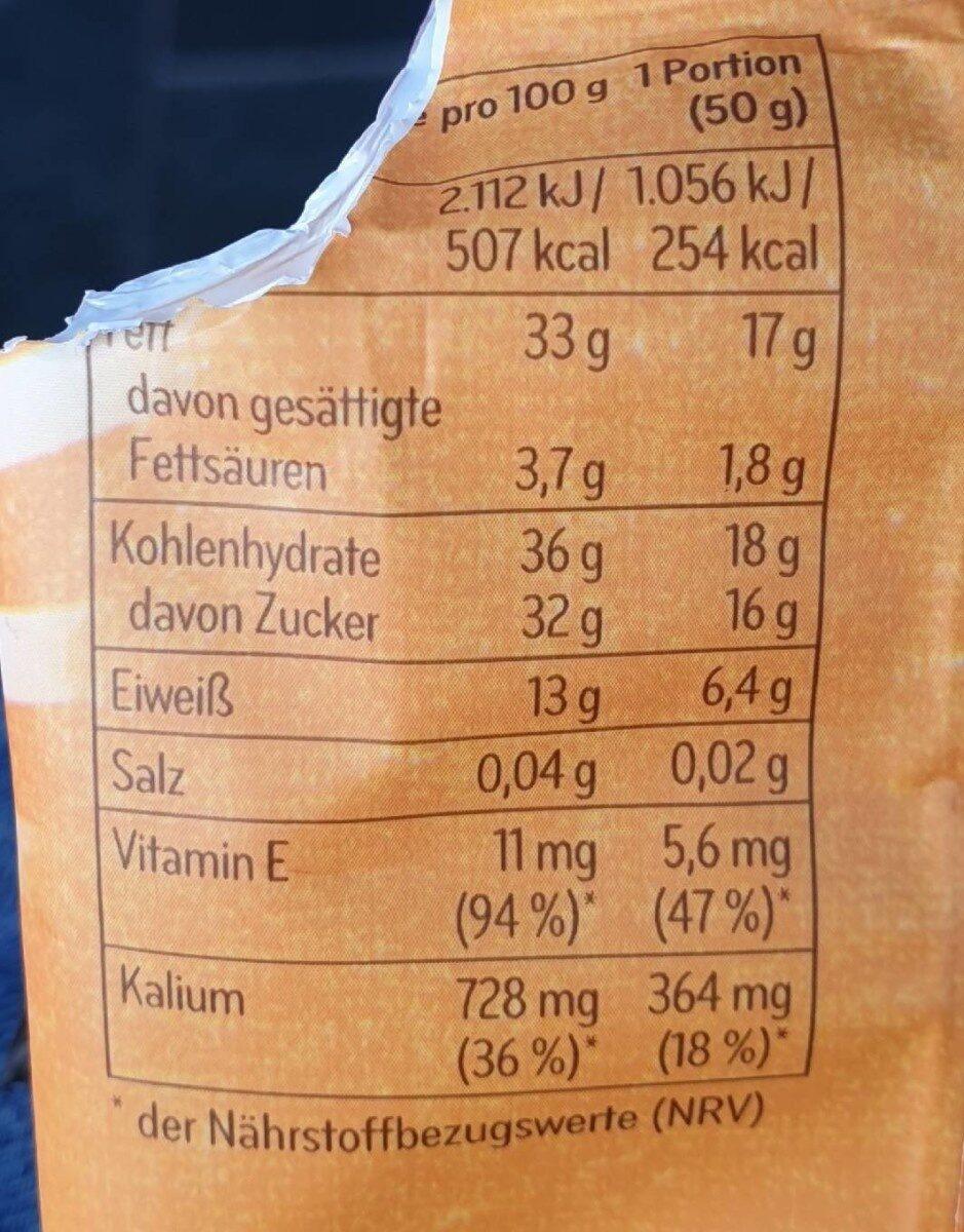Studentenfutter, Extra - Informations nutritionnelles - de