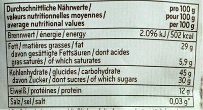 Cashew-Cranberry-Mix - Valori nutrizionali - fr