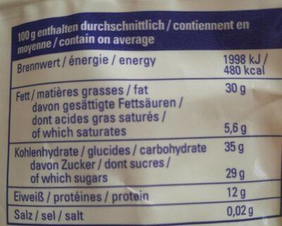 Mix Baies et Noix - Informations nutritionnelles - fr