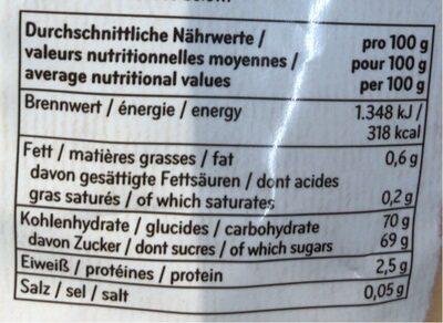 Blaue Weinbeeren - Valori nutrizionali - fr