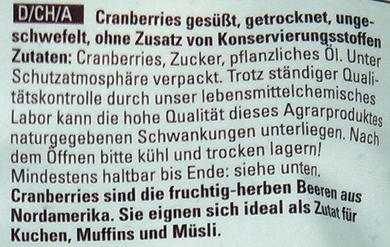 Cranberries - Zutaten
