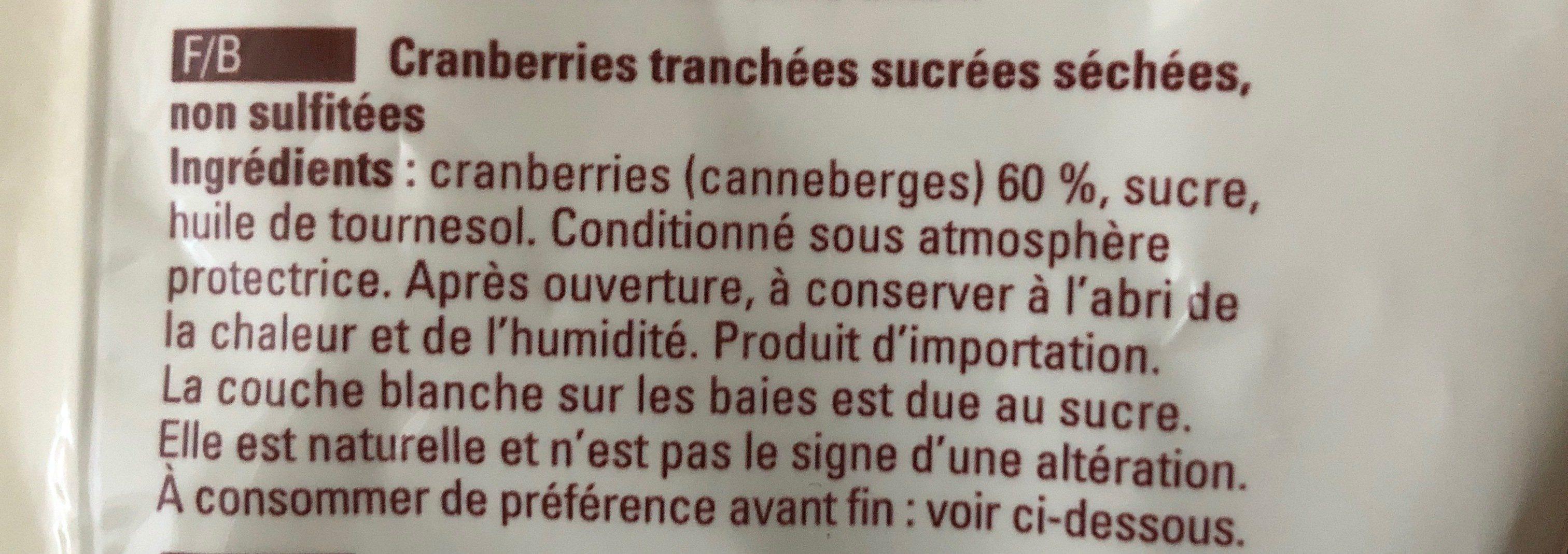 CRANBERRIES - Ingrédients - fr