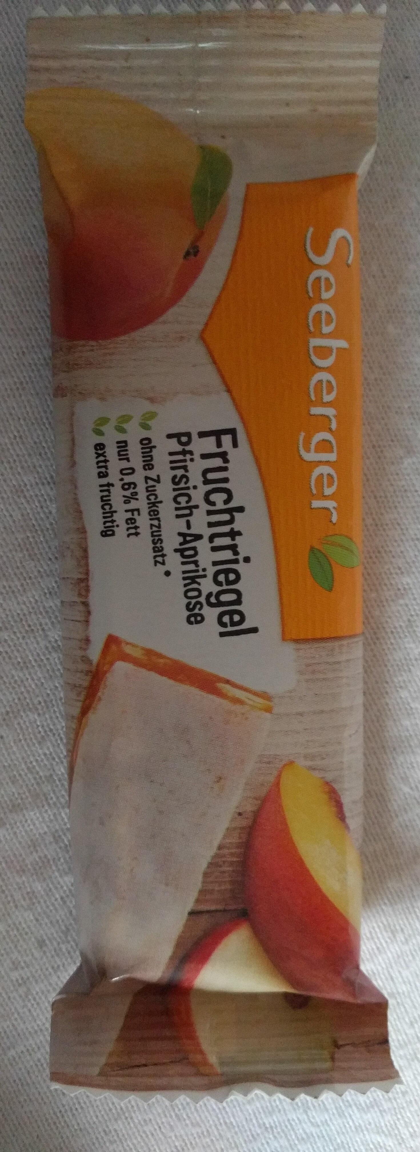 Seeberger Fruchtriegel Pfirsich-aprikose - Produit - de