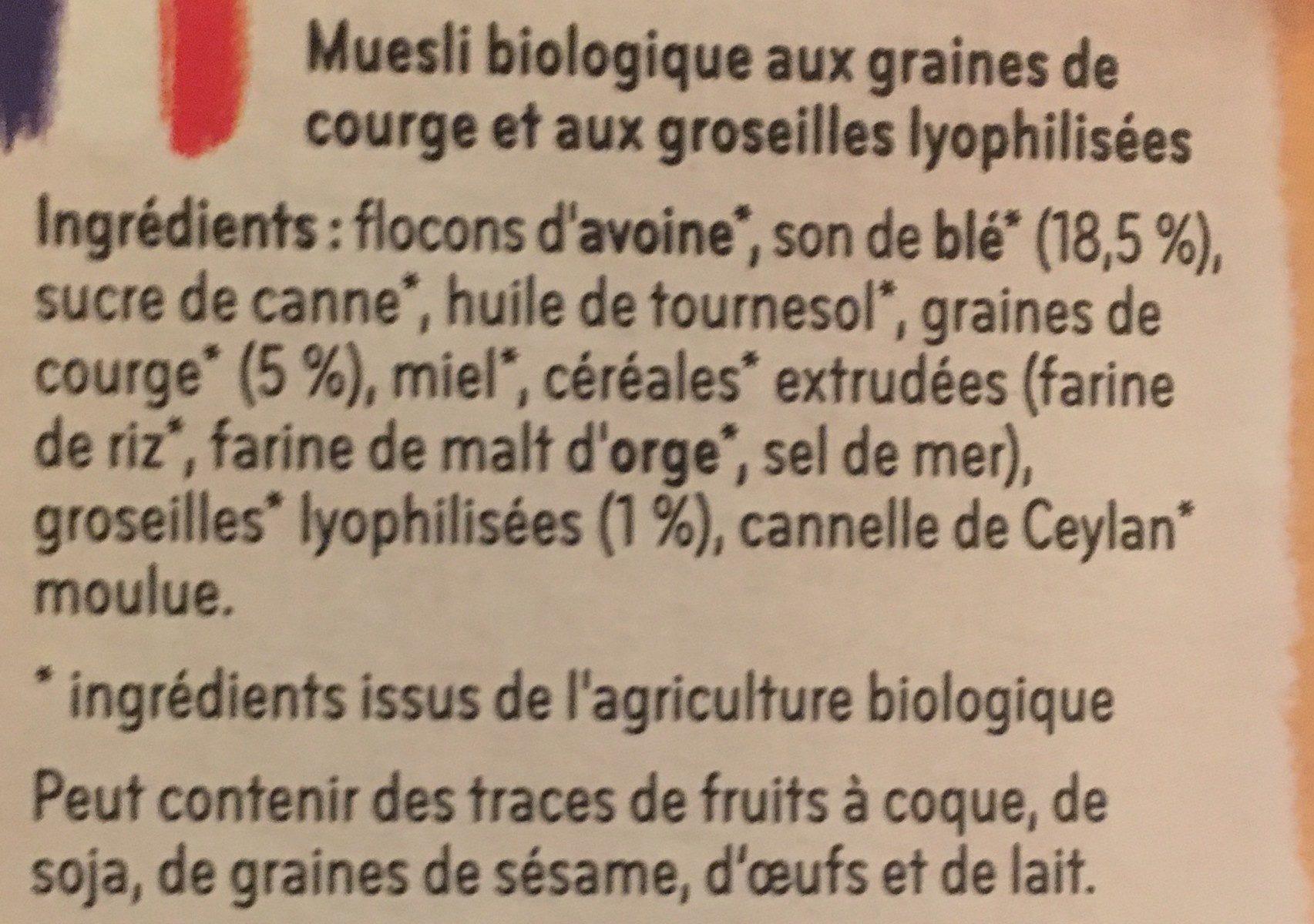 Müsli - Ingrediënten